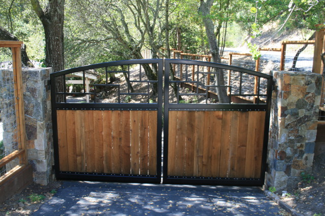 Black and Wood Gate
