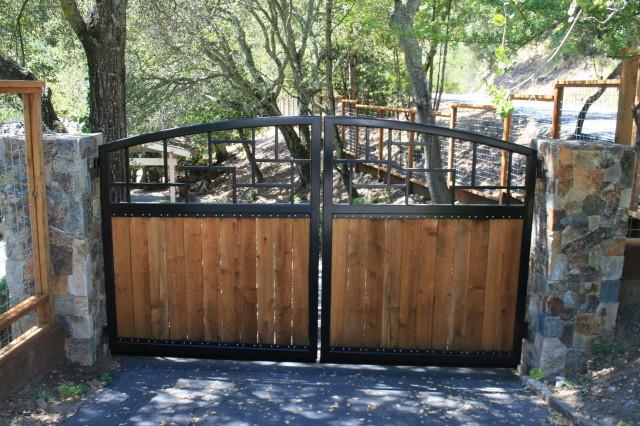 Black and Wood Gate