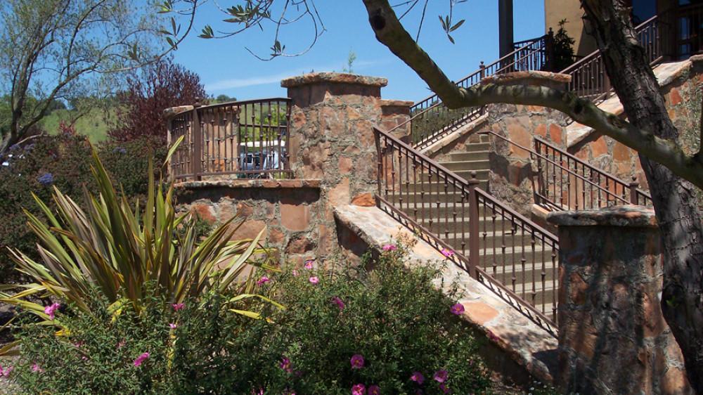 Custom Outdoor Stair Railings [056]