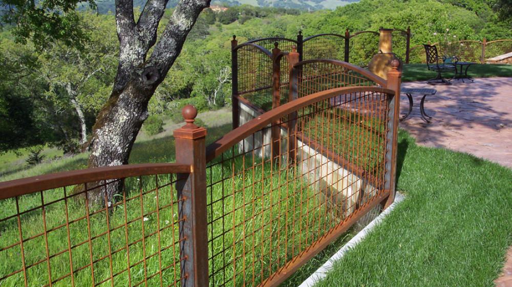 Wrought Iron Fence [054]