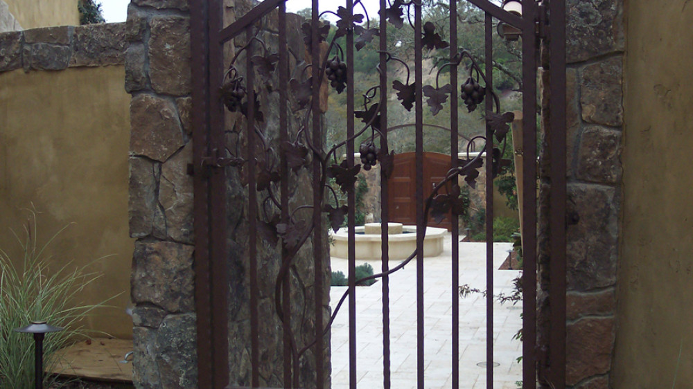 Hand Forged Grapes Gate [027]