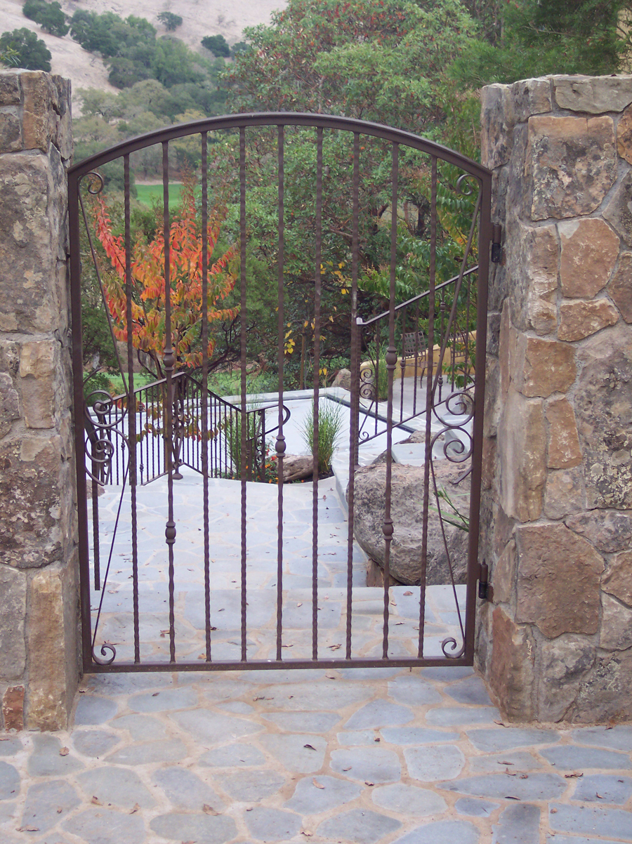 Wrought Iron Pedestrian Gate 026