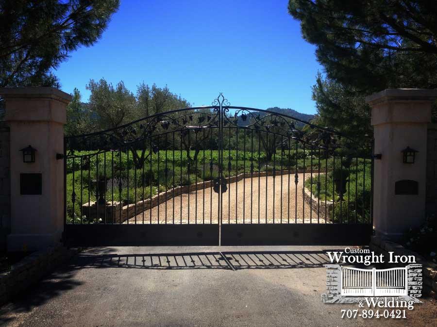 Hand Forged Calistoga Driveway Gate