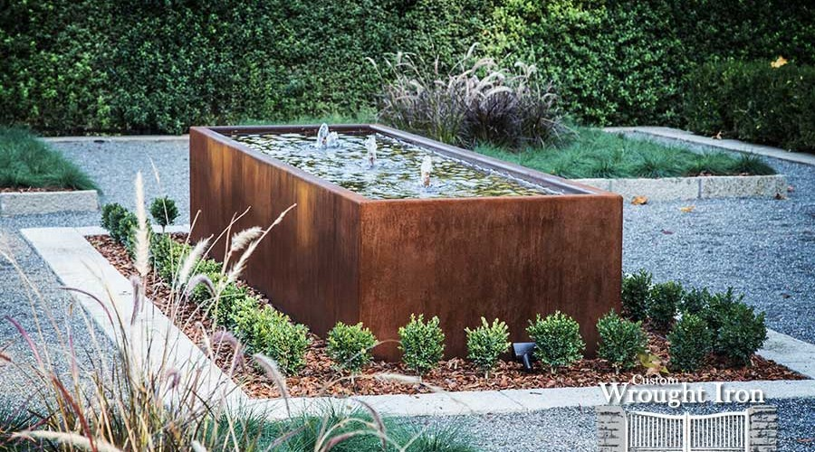 Sonoma County Corten Steel Water Feature [133]