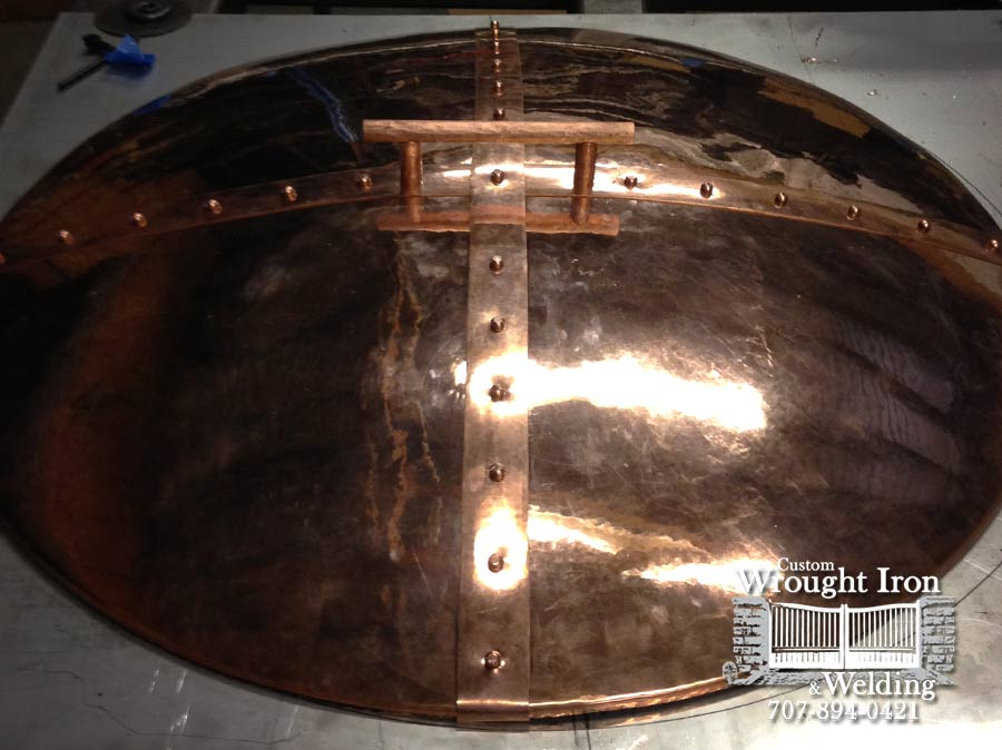 Fire Pit Cover Handmade from Copper