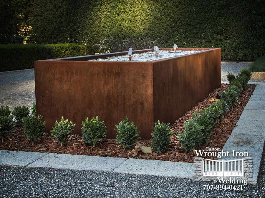 Custom made Corten Steel Feature