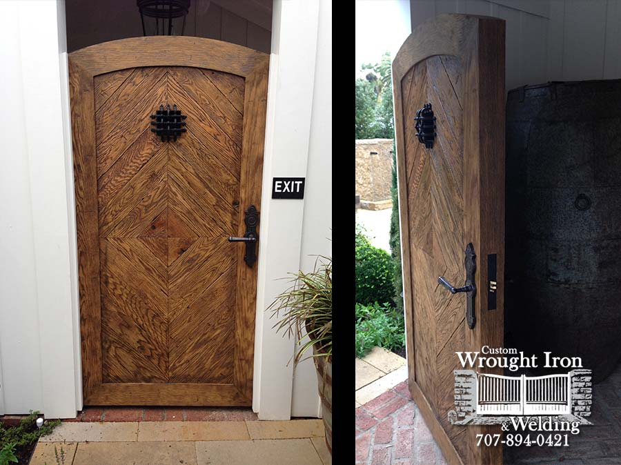 White Oak Steel Door Overlay