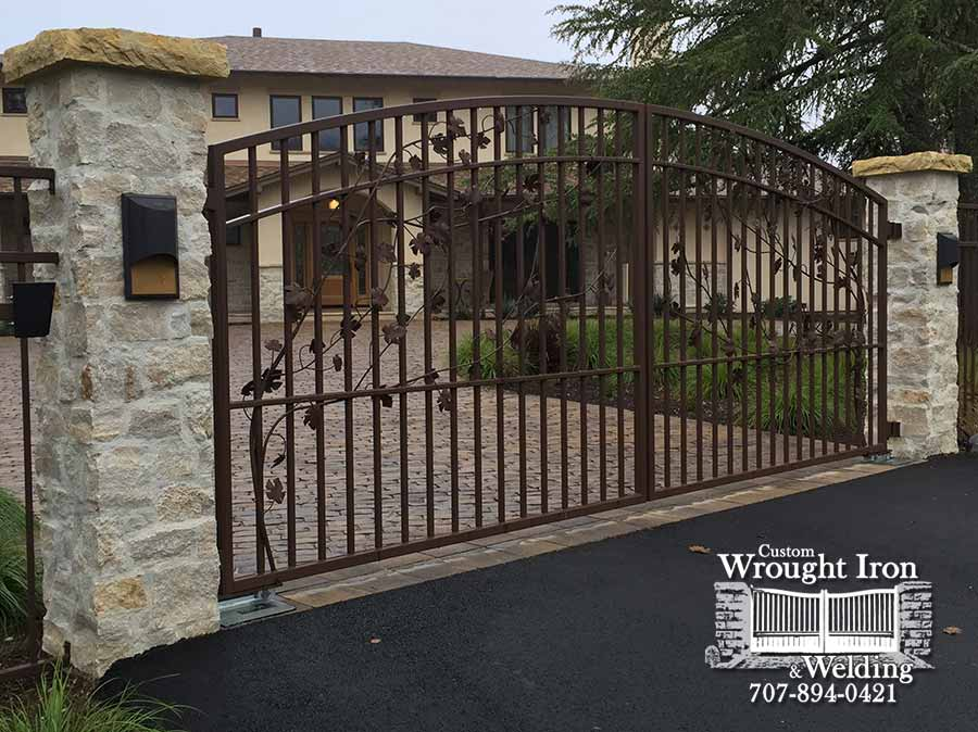 Sonoma County Vine Decorated Gate
