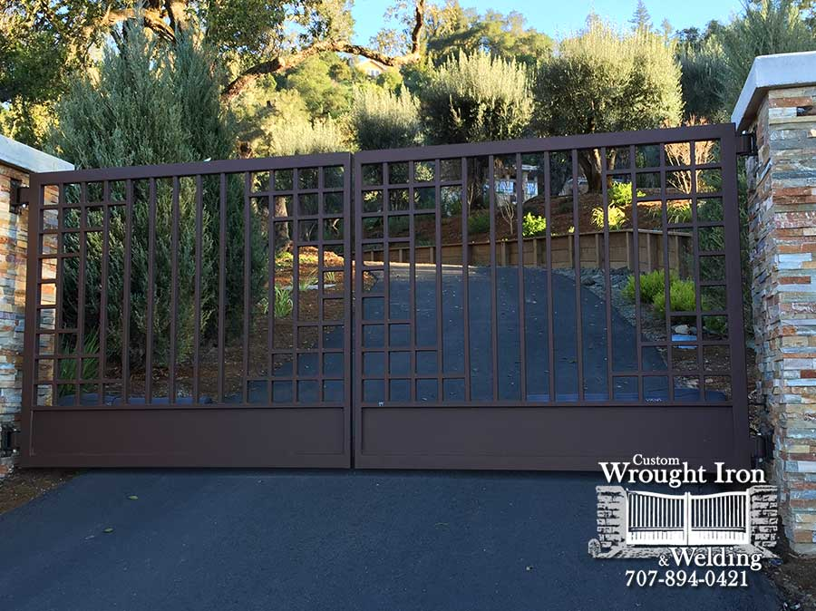 Custom Wrought Iron Gate in Cloverdale