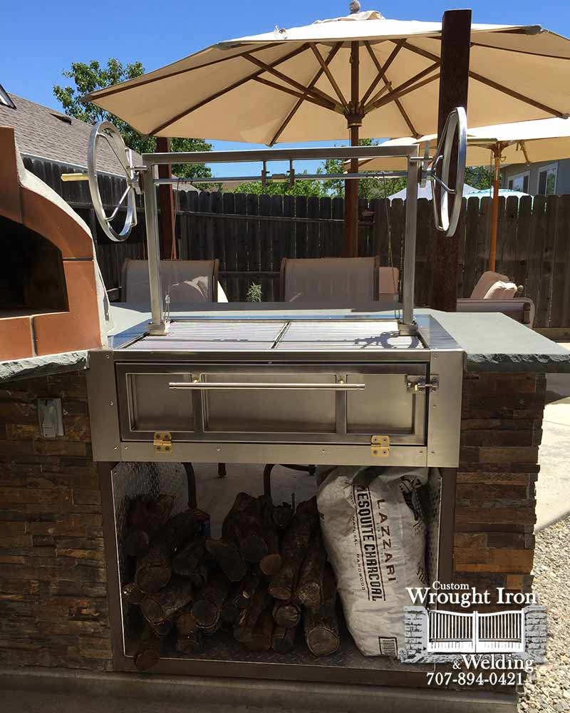 BBQ Grill in Wine Country