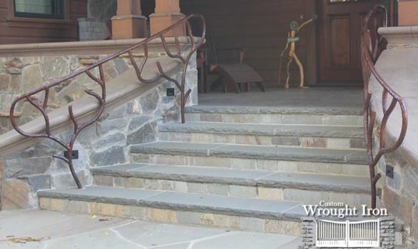 Exterior vineyard stair railings