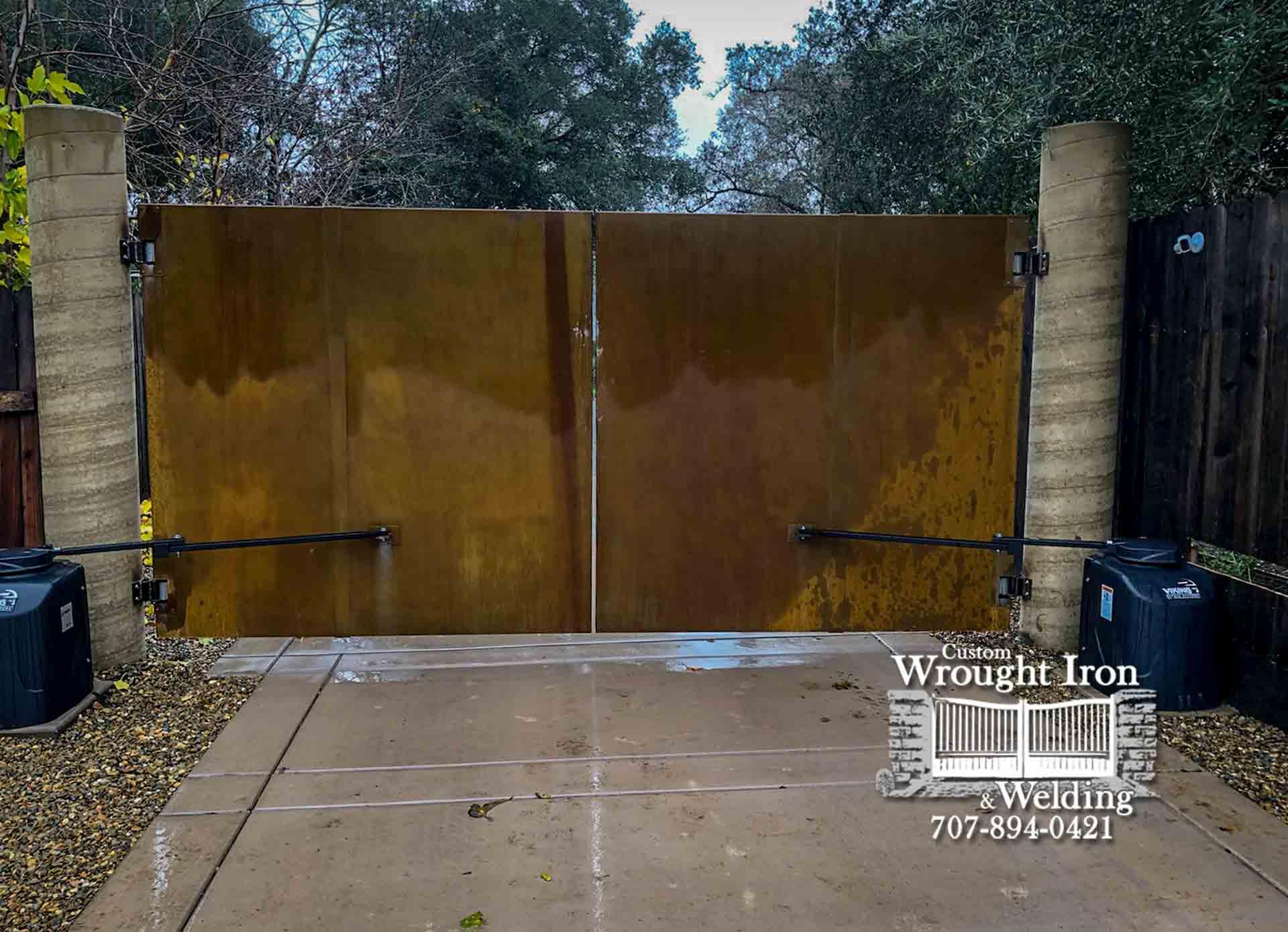 Corten Steel Driveway Gate
